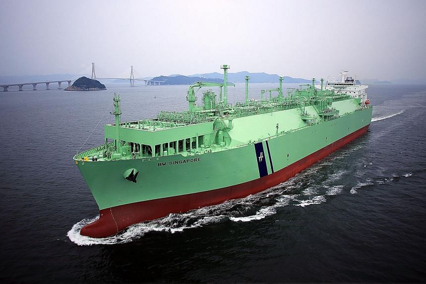 A floating storage and regasification unit, such as the vessel above, may be a means of helping to meet the country's energy needs.