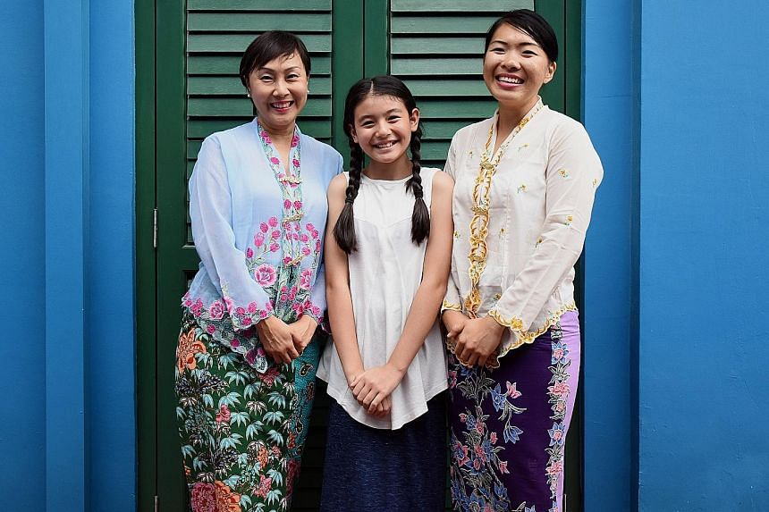 The character of Emily will be played at different stages by (from left) Karen Lim, Melissa Hecker and April Kong,