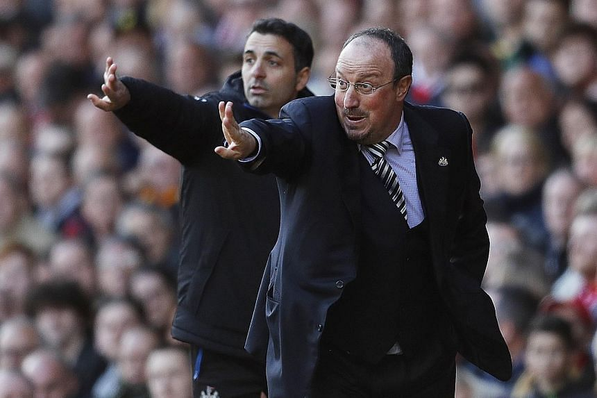Newcastle United manager Rafa Benitez was encouraged by the spirit shown by his side at Anfield as the Magpies bid to avoid relegation.