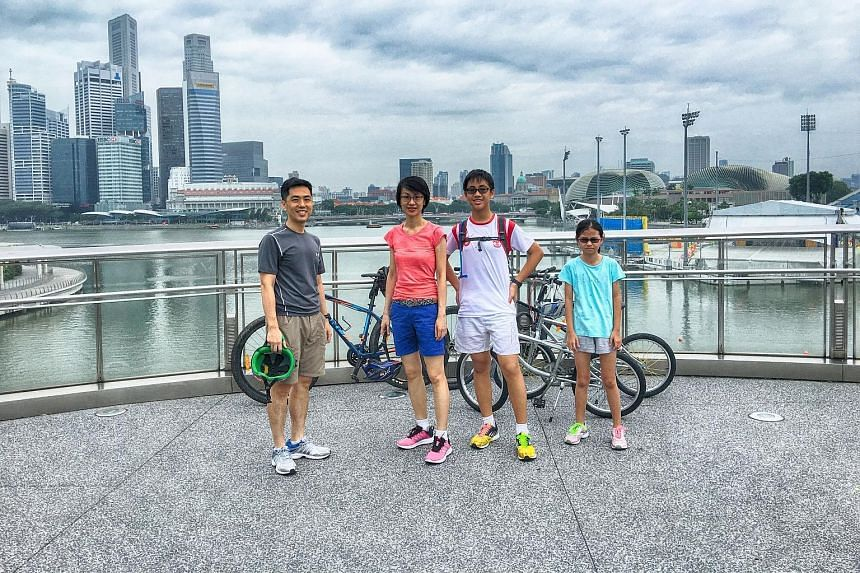 Yu An with his parents, Mr Wong Tien Hua and Madam Lim Hwee Hwee, and sister Wong Yu Xin. The 15-year-old writes on issues that may affect the general student population, among others.