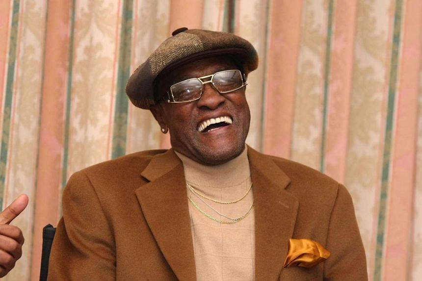 This file photo taken on Feb 6, 2008, shows US singer Billy Paul speaking during a Pre-Grammy Party at the Four Seasons Hotel in Beverly Hills, California.