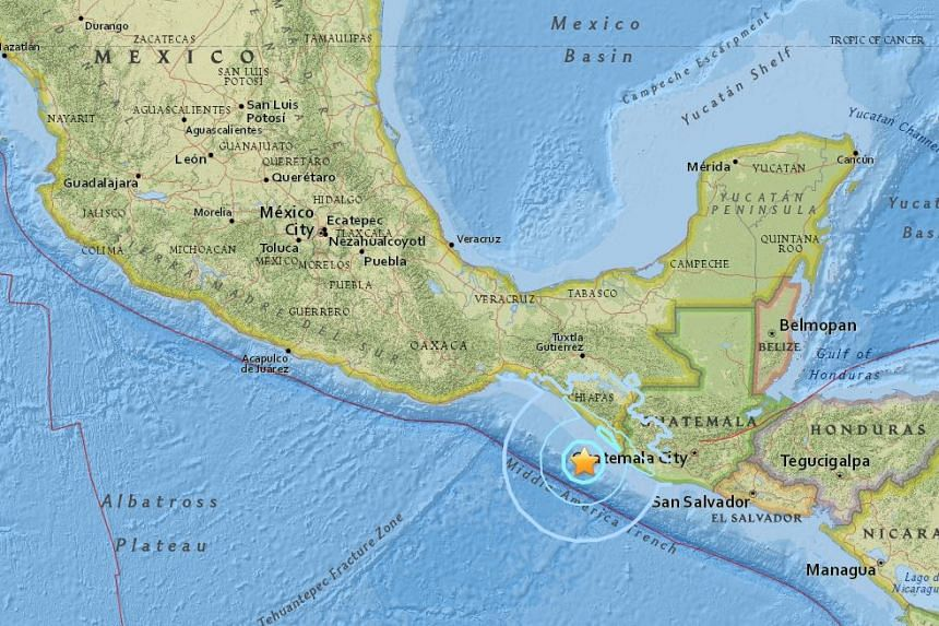 A 5.9-magnitude earthquake struck off the coast of southern Mexico on April 25, 2016.