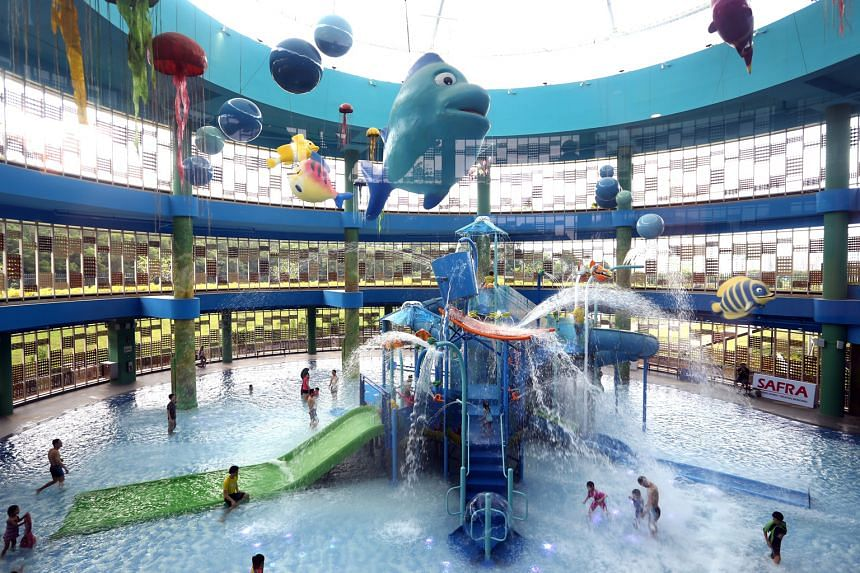 The newly opened Safra Punggol club has an indoor water playground, a gym and a yoga studio, among other facilities.