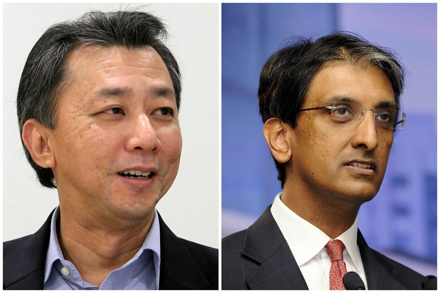 Chia Song Hwee (left) and Dilhan Pillay, the new presidents of Temasek.