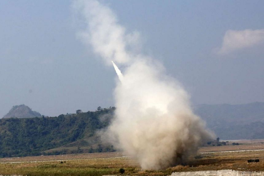 A High Mobility Artillery Rocket System (HIMARS) fires a projectile in a joint military exercise at Crow Valley in Philippines, on April 14, 2016.