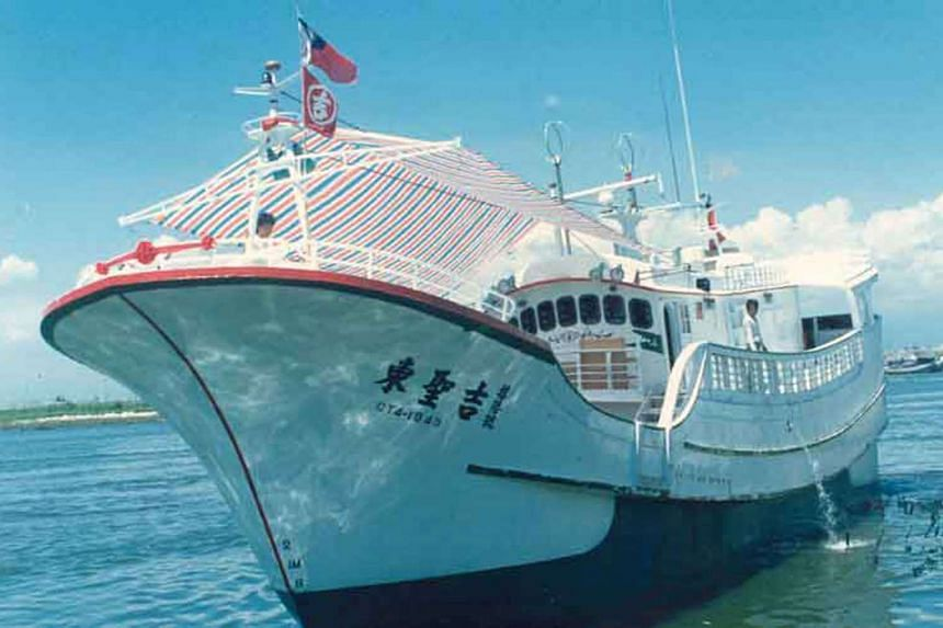 "Taiwanese fishing boat ""Tung Sheng Chi 16"" in Pingtung County, Taiwan, provided by the Liu Chiu Fishery Association."