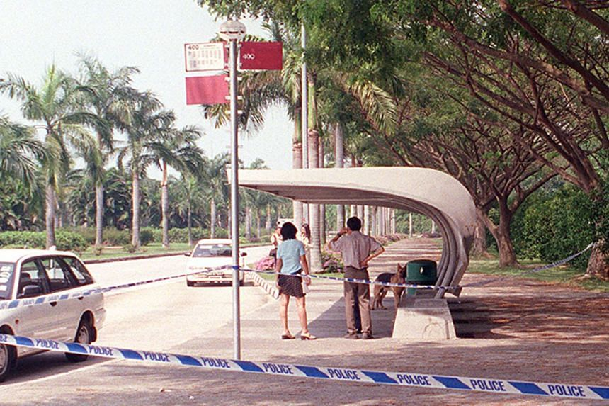 The Marina South bus stop where Jonaris hit Madam Poh with a hammer.