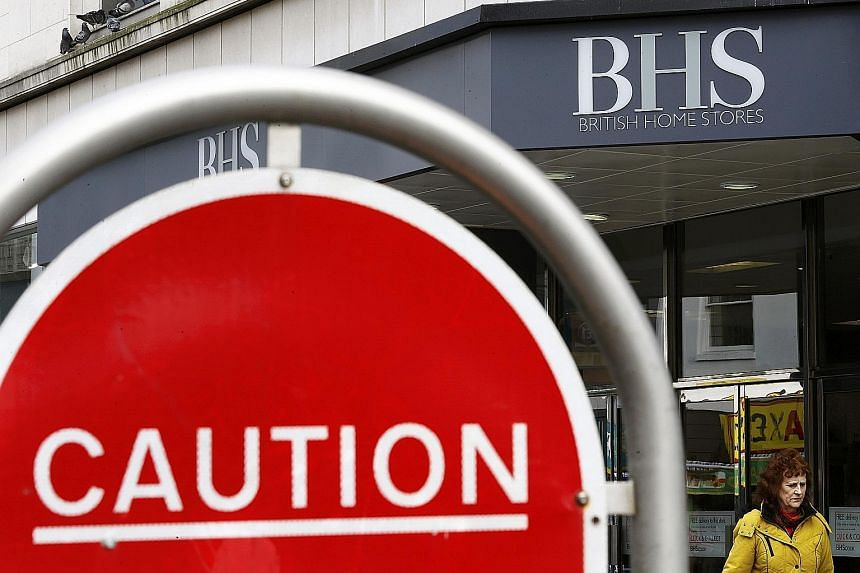 BHS Group faces insolvency as it struggled to grow sales in the face of competition from online retailers and supermarkets.