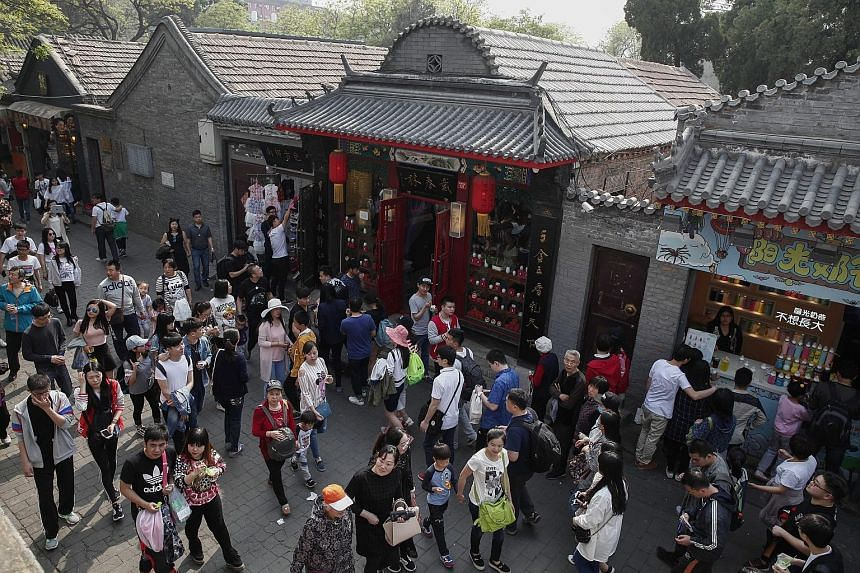 Beijing's famed but overcrowded tourist spot Nanluoguxiang is now closed to tourist groups. The narrow alleyway, known as hutong in Chinese, is still open to independent travellers, according to a notice from the Beijing Municipal Commission of Touri