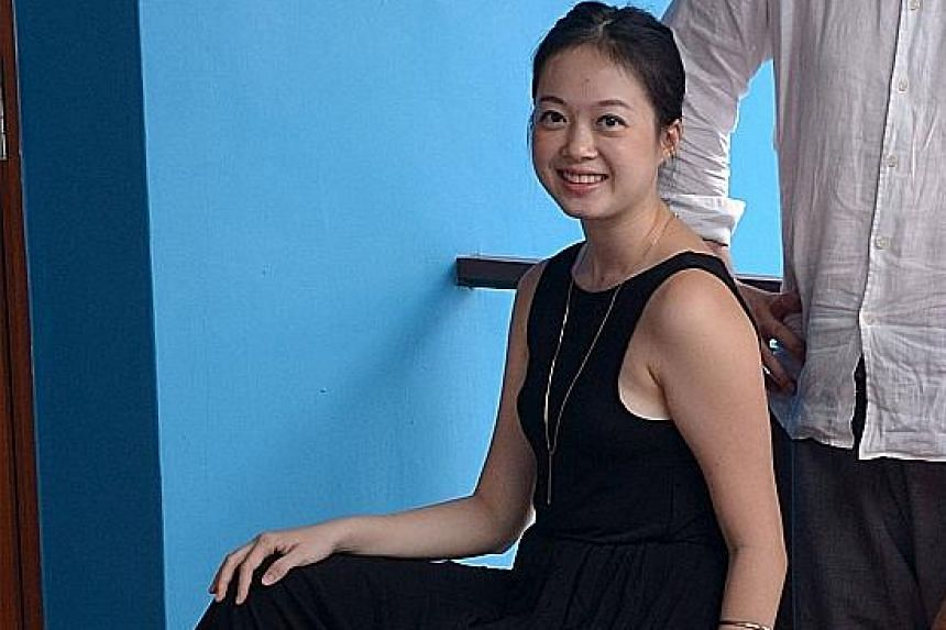 Poet Euginia Tan (above) is behind the play, Tuition.