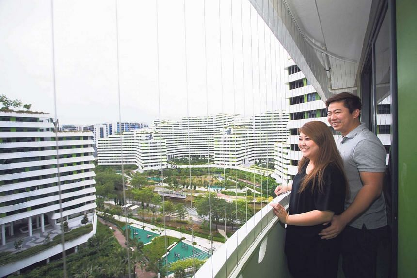 Mr Josh Lim, 32, and his wife Mrs Chloe Lim, 28, who work together in the automotive industry, planned ahead and got their four-room BTO flat at Waterway Terraces at Punggol Walk, on their second application in June 2013.