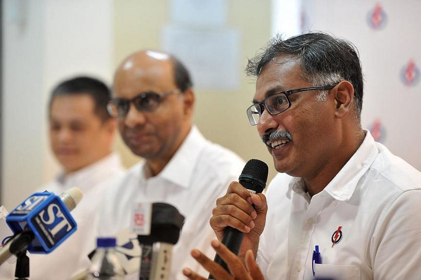 Lawyer Murali Pillai, PAP's candidate for the Bukit Batok by-election, speaking at a press conference to announce his plans for the constituency.