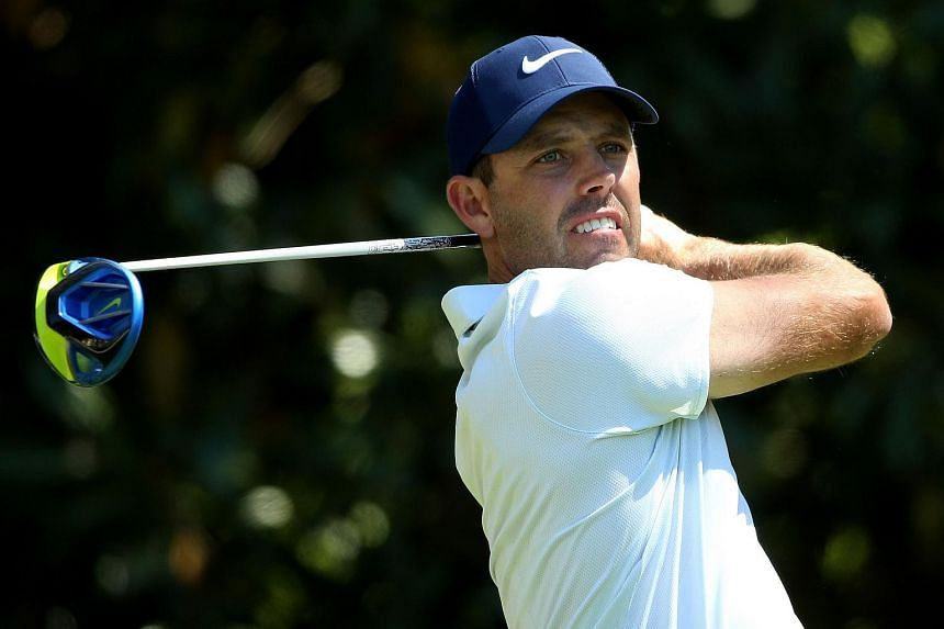 Charl Schwartzel of South Africa plays his shot during the 2016 Masters Tournament, on April 8, 2016.