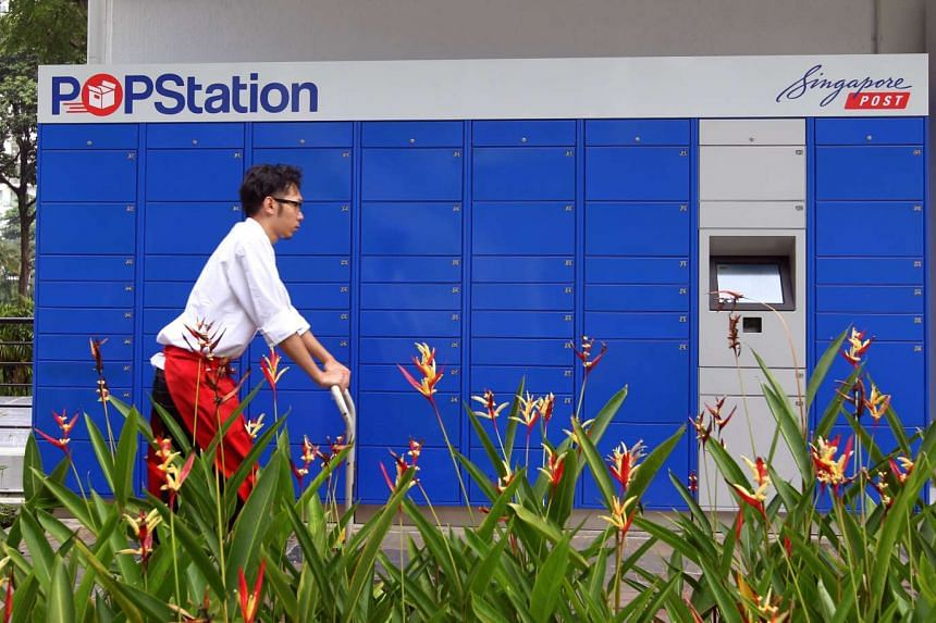Under the new initiative, a nationwide system of lockers, similar to Singpost's POPStation (pictured), will be set up to help facilitate the delivery of ecommerce items.