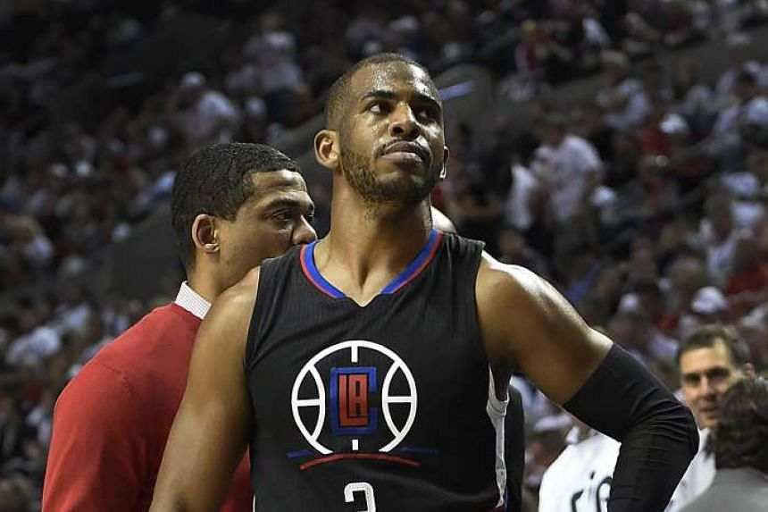 Los Angeles Clippers guard Chris Paul injured his hand in Game Four of the Western Conference Quarterfinals against the Portland Trail Blazers on April 25, 2016.