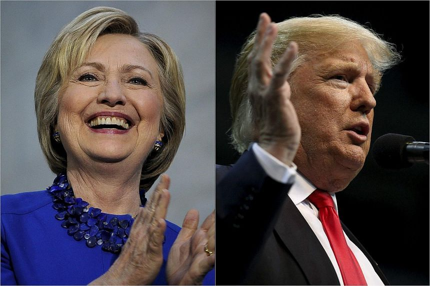 US Democratic presidential candidate Hillary Clinton (left) and Republican presidential candidate Donald Trump.