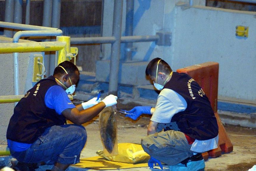 The police found the murdered woman's head at an incineration plant in Tuas.