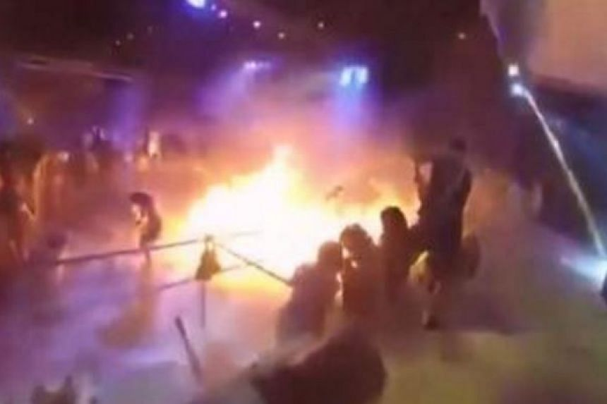 A video screenshot of the explosion at Taiwan's Formosa Fun Coast waterpark on June 27, 2015.