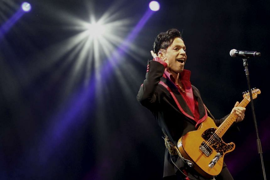 Prince performs in Abu Dhabi in 2010.