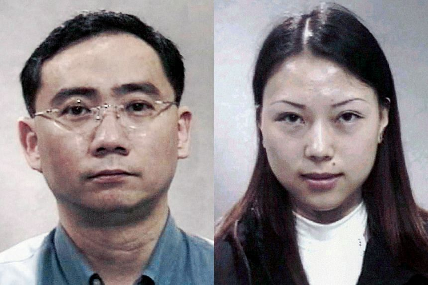 Asia Pacific Breweries executive Chia Teck Leng (left) cheated four banks of more than $117 million. His girlfriend Li Jin faced charges of using a forged passport to enter and leave Singapore.
