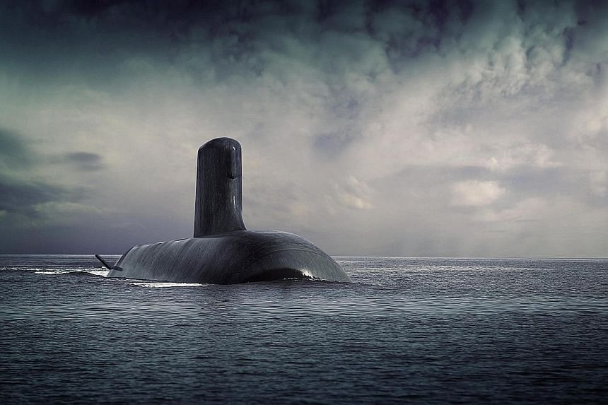 An image of the Shortfin Barracuda submarine to be built by France's DCNS Group for the Australian navy.