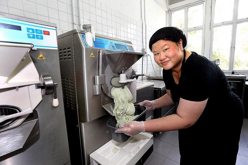 Ex-investment banker Sharon Tay started Momolato in January 2014 to sell gelato and popsicles. Momolato operates mainly as a wholesaler that offers innovative ice cream flavours, like cereal milk, miso with strawberries, salted egg yolk and durian gu