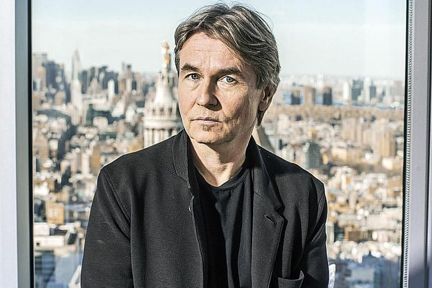 Finnish conductor Esa-Pekka Salonen in the New York apartment owned by his friend, the architect Frank Gehry.