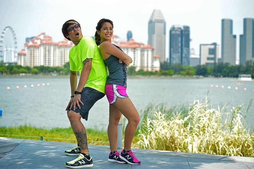 DJs Glenn Ong and Charmaine Yee promise a fun, light-hearted atmosphere when they host The Straits Times Run in the City 2016 next month.