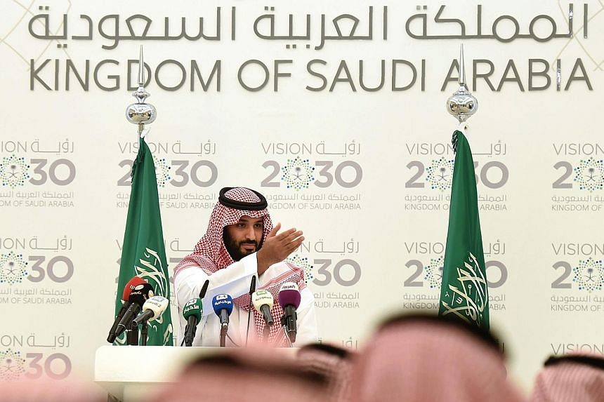 """""""We will not allow our country ever to be at the mercy of commodity price volatility or external markets,"""" said Prince Mohammed. He has unveiled plans to wean the economy off oil, curb wasteful state spending and introduce a sales tax."""