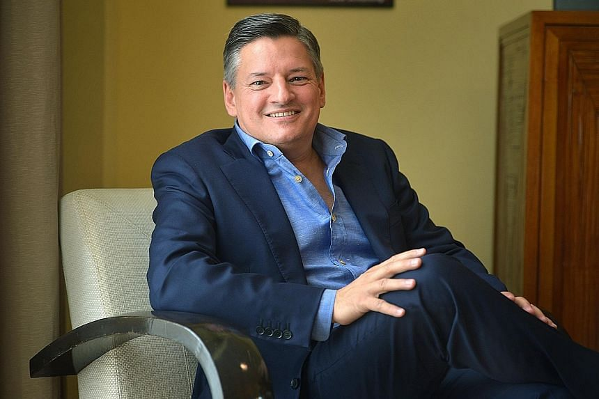 """Netflix's Mr Sarandos says producing content in Singapore for the world """"can be quite big""""."""