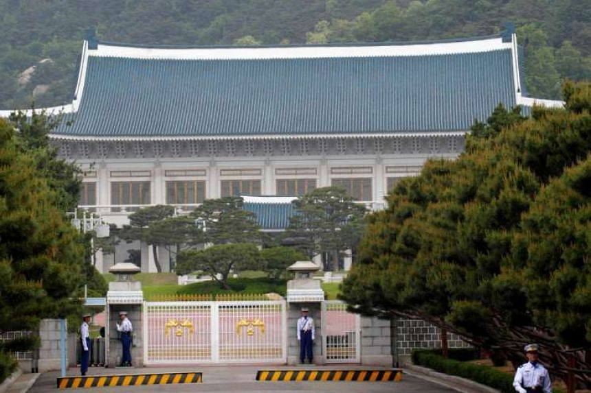 North Korea is preparing to blow apart a replica of South Korea's presidential Blue House.