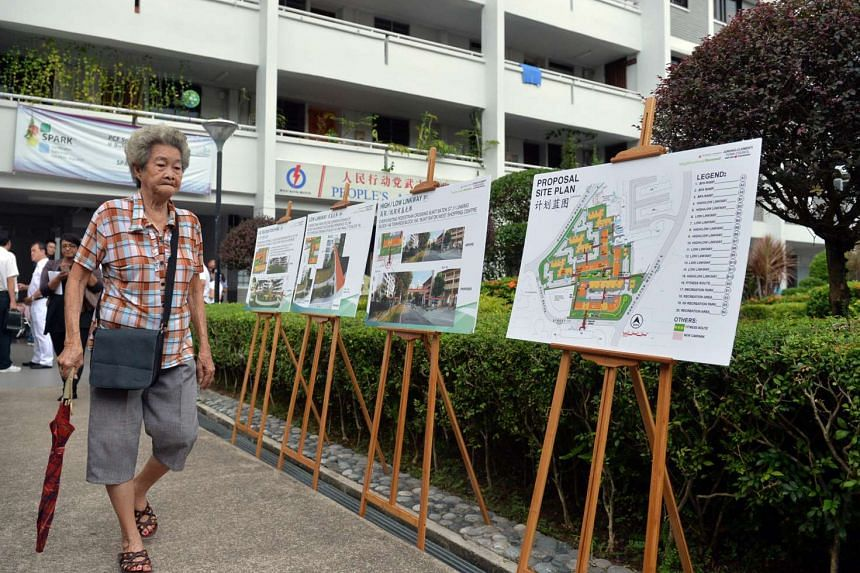 Details of the Bukit Batok Neighbourhood Renewal Programme on display for residents to view.