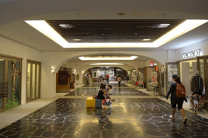 An underground linkway between Orchard Central and The Centrepoint.