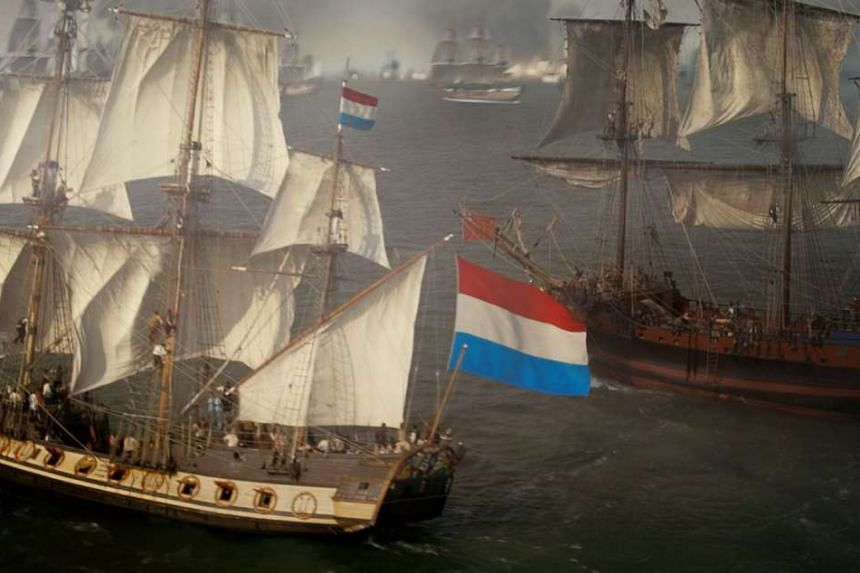 For the sea battles of Admiral, film-maker Roel Reine used three 17th-century replica ships, then duplicated them with computer technology.
