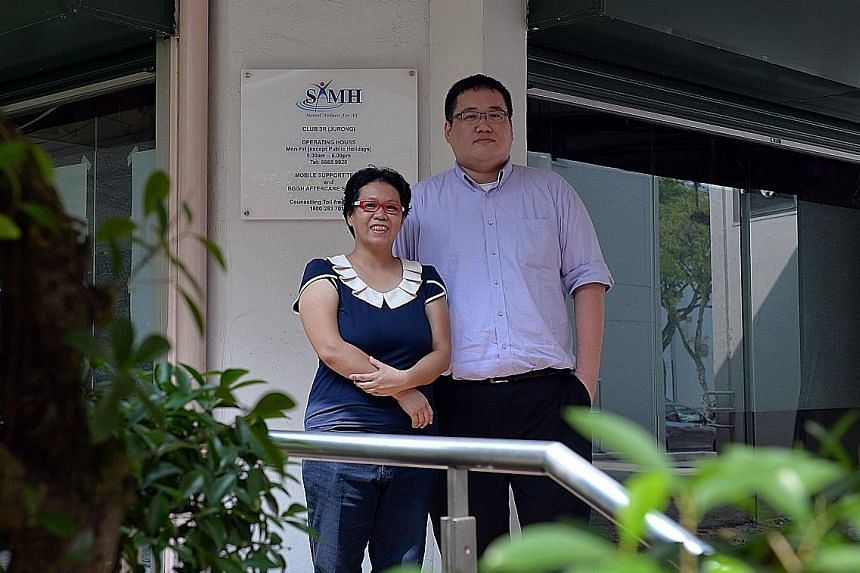 Ms Ng and Mr Tan Wen Xiang, SAMH's deputy head of vocational services. Ms Ng, who has general anxiety disorder, has lost at least seven jobs in the past 10 years. It is hoped that with WSQ-certified training, there can be more acceptance of people li