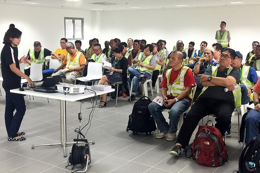 More than 400 Tower Transit bus drivers attended a disability awareness and sensitivity training session at Bulim Bus Depot yesterday. The talk was conducted by the Society for the Physically Disabled.