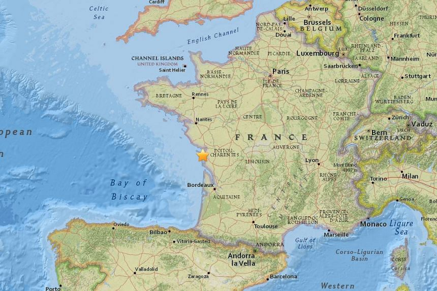 A magnitude-5.2 earthquake struck south-west France, near the city of La Rochelle, on April 28, 2016.