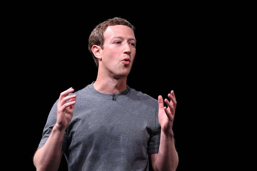 File photograph of Mark Zuckerberg speaking during a press conference presenting Samsung's new Galaxy 7 mobile device.