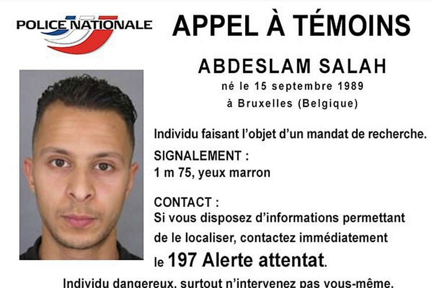 Belgian-born Salah Abdeslam is seen on a notice calling for witnesses released by the French Police Nationale information services on their Twitter account last November. Abdeslam has been charged for terrorism by a French court.
