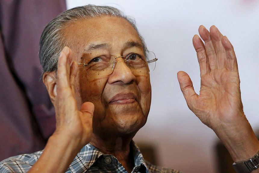 Malaysia's former Prime Minister Mahathir Mohamad attends a meeting of political and civil leaders looking to change the government in Kuala Lumpur, Malaysia.