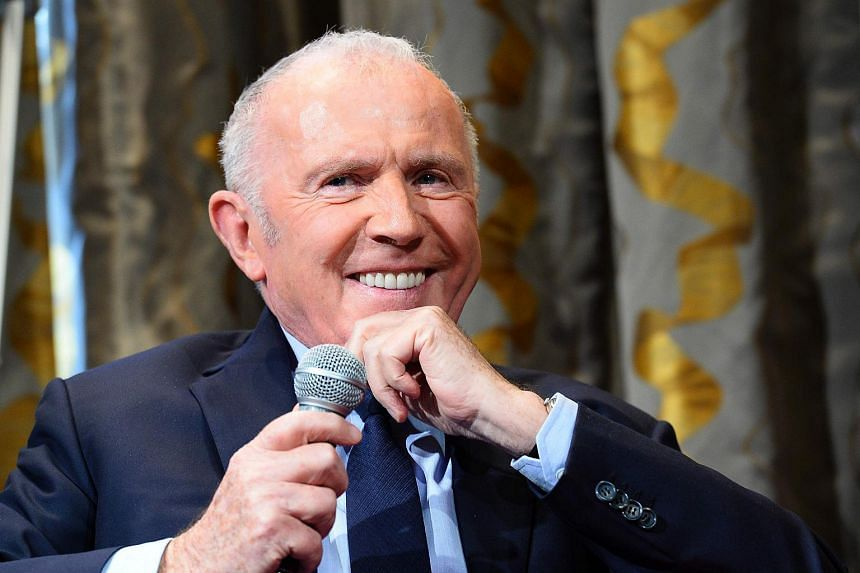 French businessman Francois Pinault at a press conference to announce an art museum project, which will house Pinault's private art collection, on April 27, 2016.