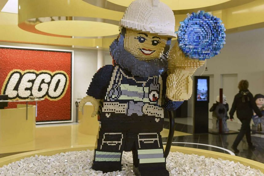 General view of the reception area at the Lego headquarters in Billund, Denmark on March 1, 2016.