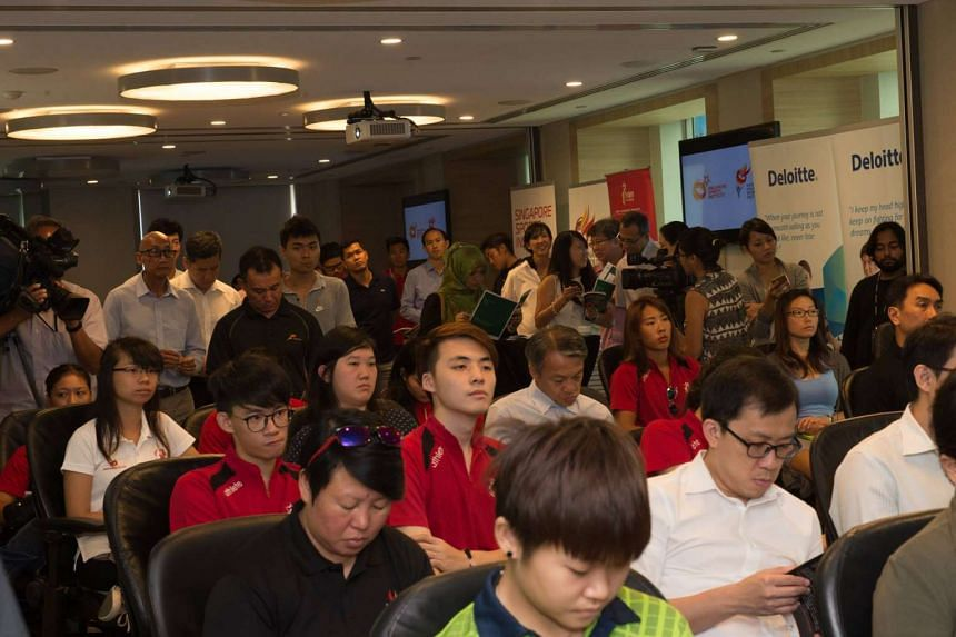 The crowd at the launch of the book, Sponsorship for Athletes, on April 27, 2016.