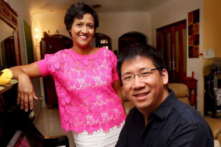 Former lawyers Rani Singam and Chok Kerong rehearsing for the Law Society's Just Sing concert next month.