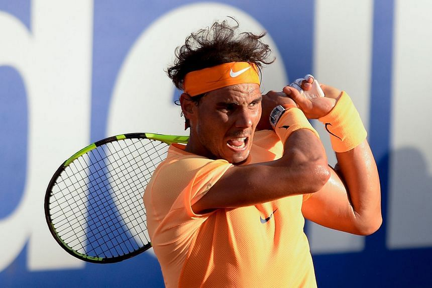 Rafael Nadal in action at the Barcelona Open, which he won last week. The Spaniard wants tennis to win its fight against doping.