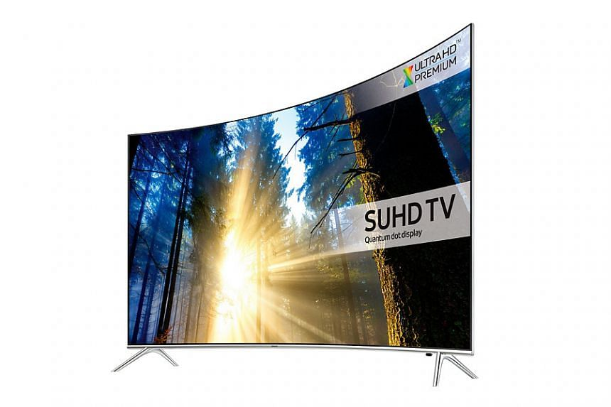 THe 65-inch KS7500 7 Series Curved SUHD TV by Samsung.