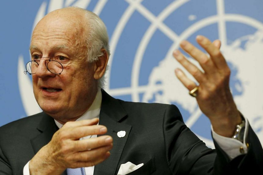 UN mediator Staffan de Mistura attends a news conference during the Syria Peace talks at the United Nations in Geneva, Switzerland, on April 28, 2016.