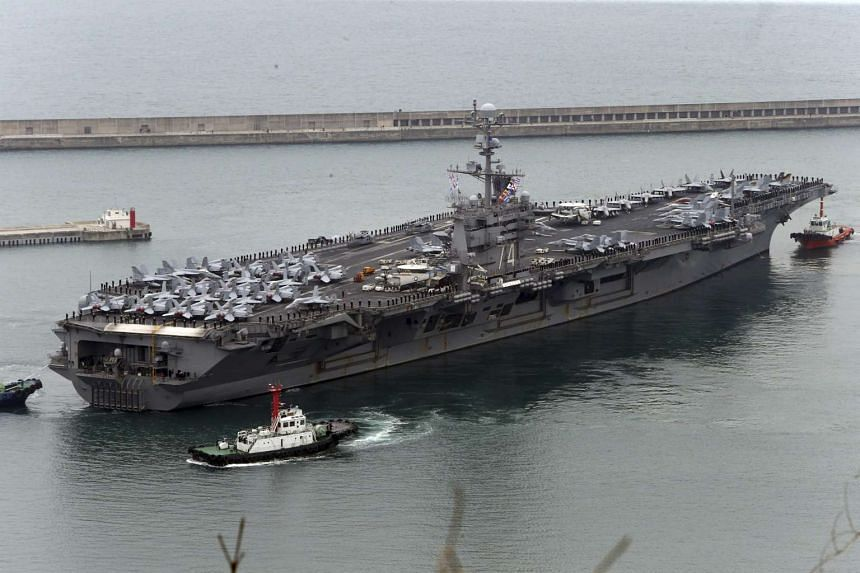 China has denied the USS John C. Stennis (pictured) and its escort ships access to Hong Kong for a port visit.