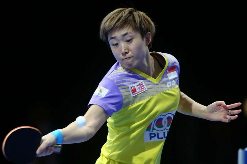 Feng Tianwei lost in the Asian Cup semi-finals to reigning Olympic champion Li Xiaoxia in Dubai on April 29, 2016.