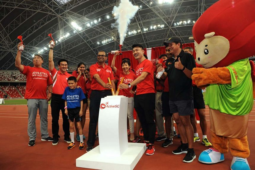 The ActiveSG Athletics Club was launched on April 29 by Minister for Community, Culture and Youth Grace Fu.